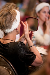 Beauty school lady with mirror